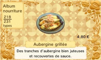 Aubergine grillee