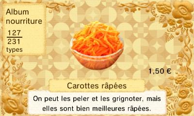 Carottes rapees