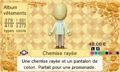 Chemise rayee