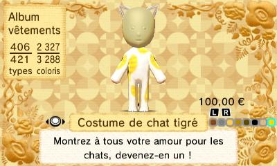 Costume chat tigre