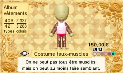 Costume faux muscles