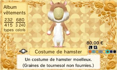 Costume hamster