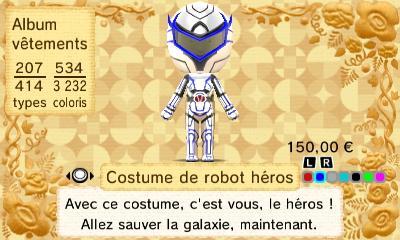Costume robot heros