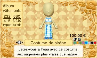 Costume sirene