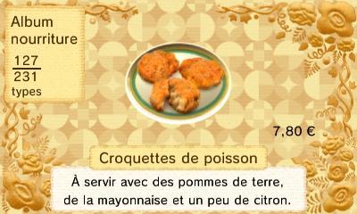 Croquette poisson