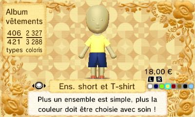 Ens short et t shirt