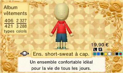 Ens short sweat a cap