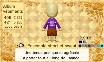 Ensemble short et sweat