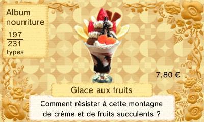 Glace fruits