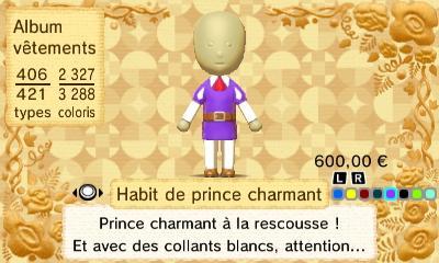 Habit prince charmant