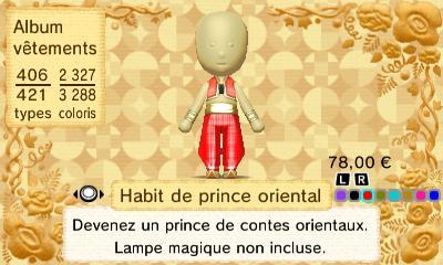Habit prince oriental