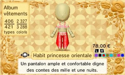 Habit princesse orientale