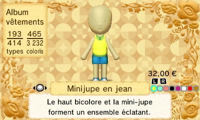 Minijupe jean 1