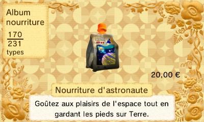 Nourriture astronaute