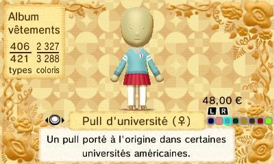 Pull universite f