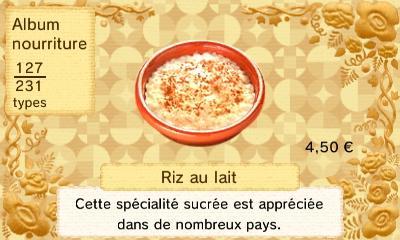 Riz lait