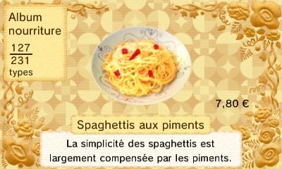Spaghettis piments