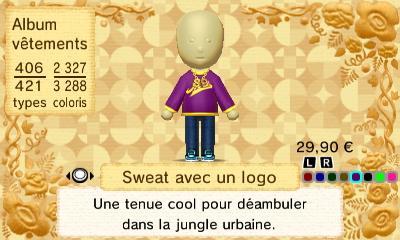 Sweat avec logo