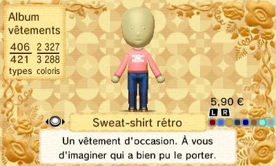 Sweat shirt retro