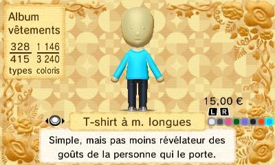 T shirt a m longues