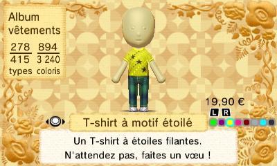 T shirt a motif etoile