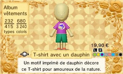 T shirt avec dauphin