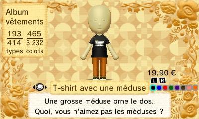T shirt avec une meduse