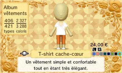T shirt cache coeur