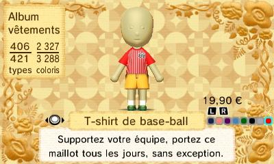 T shirt de base ball