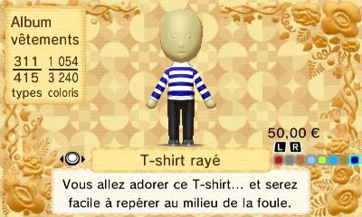 T shirt raye