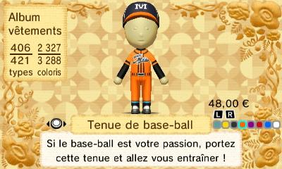 Tenue base ball