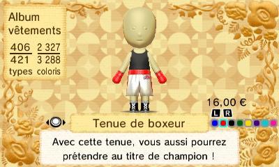 Tenue boxeur