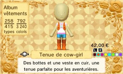 Tenue cow girl