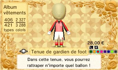Tenue gardien foot