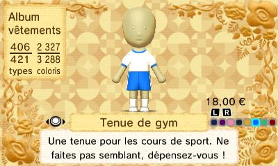 Tenue gym