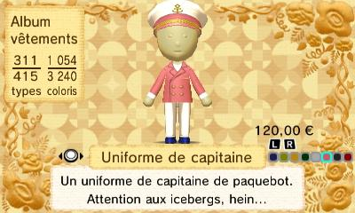 Uniforme capitaine