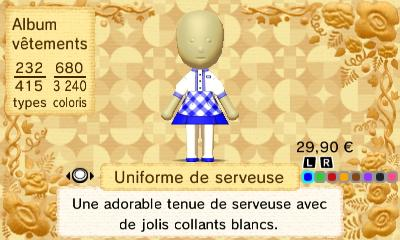 Uniforme serveuse
