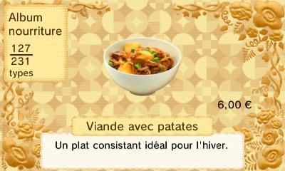Viande avec patates