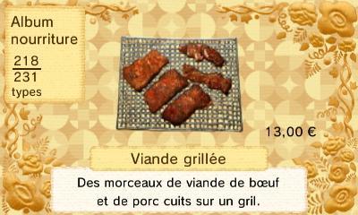 Viande grillee